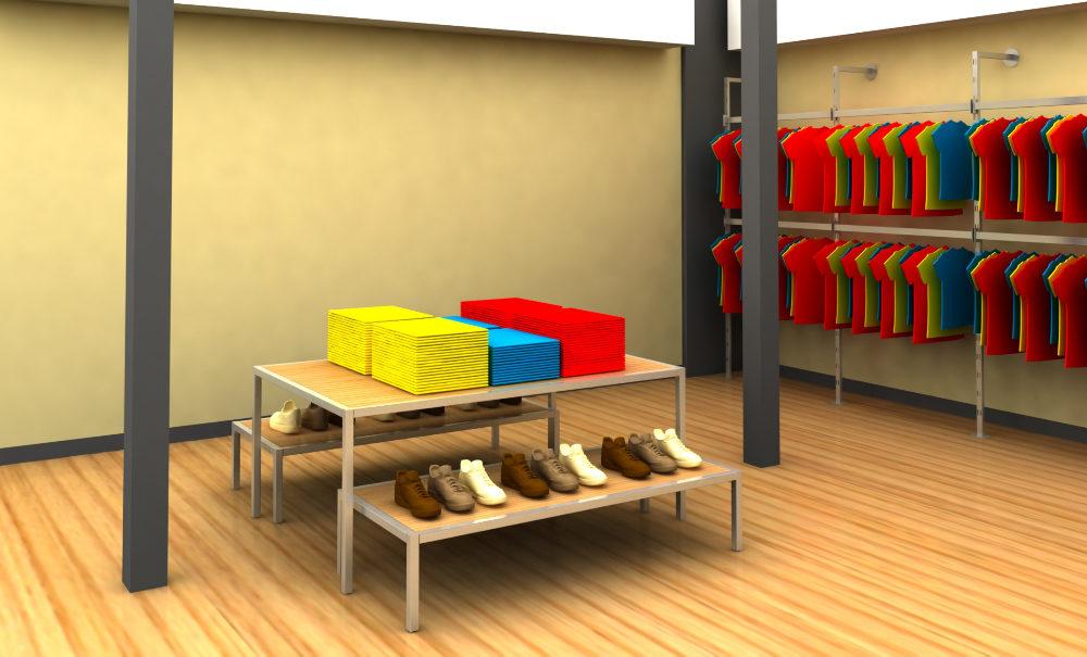 Expositor metálico para zapatos de EXDAL