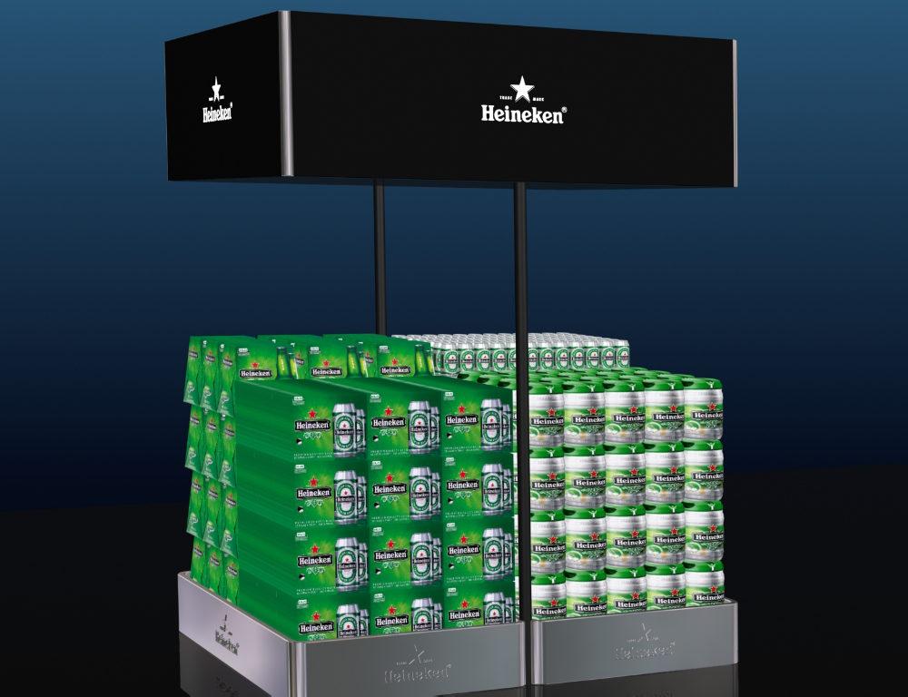 Los mejores expositores metálicos de Heineken